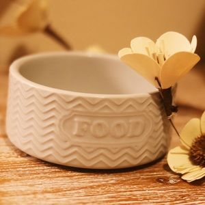 Other - Small Grey Dog Food Bowl